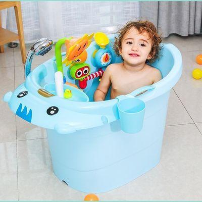 宝宝洗澡盆大号洗澡桶儿童泡澡桶加厚浴缸婴儿幼儿浴盆小孩沐浴桶