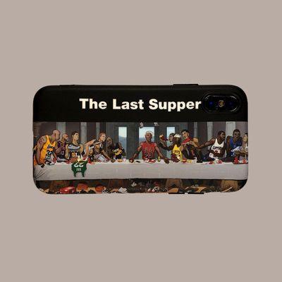 NBA最后晚餐iPhoneXSmax手机壳三星S10+磨砂华为p30软壳适用11Pro