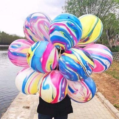 加厚彩云发光双层云彩气球婚庆生日装饰微商地推扫码街卖小礼品