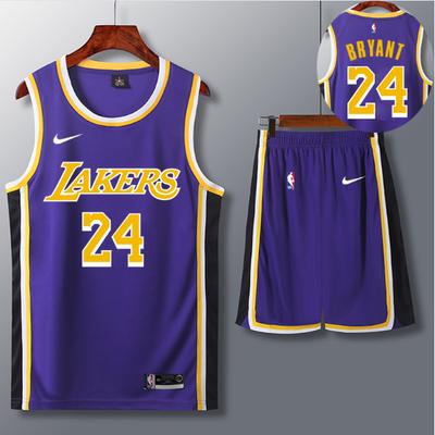 湖人球衣詹姆斯23号新款库里球服印字定制大学生比赛篮球服套装男