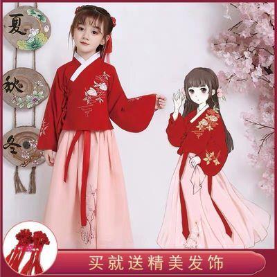 女童汉服六一袄裙襦裙小孩中国风春夏古风学生古装演出服装仙女裙