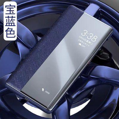 新款华为mate30RS手机壳智能翻盖式真皮mate30pro保时捷保护皮套