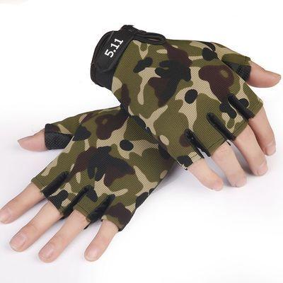 511战术半指手套男户外健身骑行防晒军迷防滑格斗战术特种兵手套