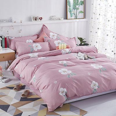 新款【被套+2枕套+四件套】被套单件双人被罩床上用品褥罩家纺三