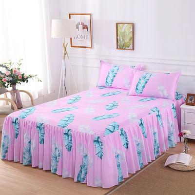 新款【48小时内发货】防滑单件床裙韩版不褪色床罩公主席梦思保护