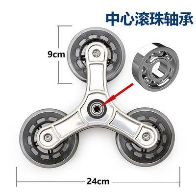 三角轮爬楼梯水晶轮PU轮子耐磨橡胶轮购物车买菜车小拉车轱辘通用
