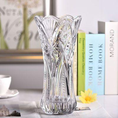 2020新品特卖欧式玻璃花瓶 透明宝石创意大号花瓶 富贵竹百合插花