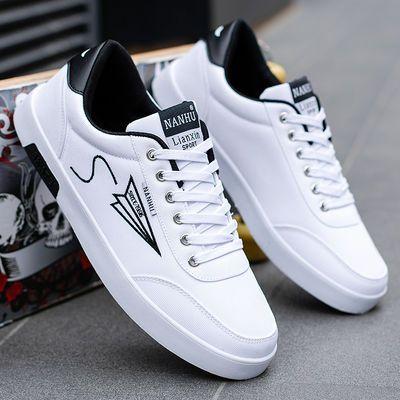 夏季青少年帆布鞋韩版潮学生休闲运动鞋春季白色男板鞋流行男鞋子