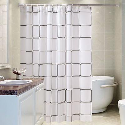 卫生间浴帘浴室防水加厚防霉窗帘隔断门帘淋浴挂帘子布