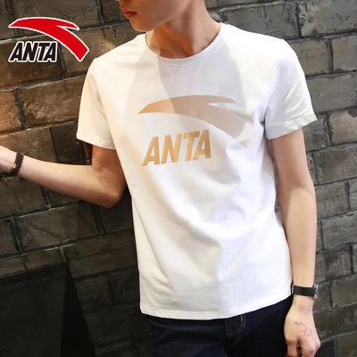安踏短袖T恤男装官网正品2020夏季针织大logo透气休闲运动服上衣