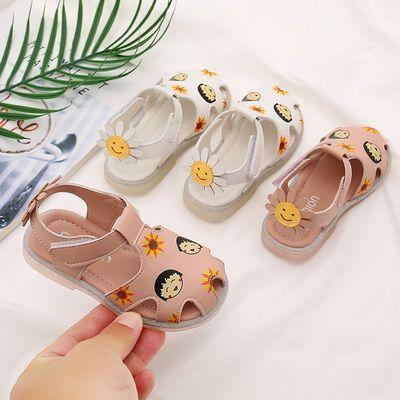 2020夏季新款女童凉鞋韩版可爱樱桃小丸子学步鞋1-3岁宝宝防滑鞋,免费领取18元拼多多优惠券
