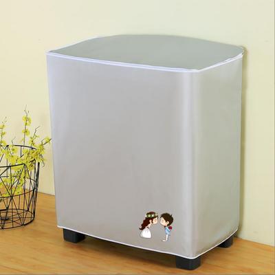 防水防晒半自动洗衣机罩老式双桶洗衣机套子海尔美的通用洗衣机套