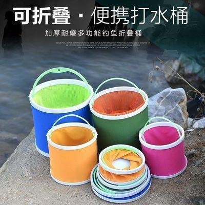 2020新品特卖鱼桶折叠钓鱼桶加厚超柔软可折叠水桶牛津布装鱼护桶
