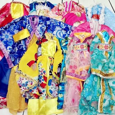 中国古装富华达芭比娃娃古风宫廷贵妃古装换装衣服服饰民族服装