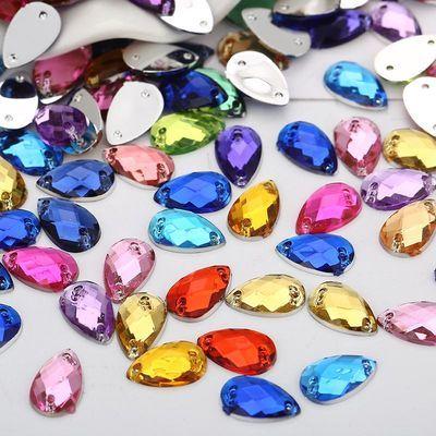 2020新品特卖diy手工钻材料包水滴8*13mm服装辅料配件亚克力手缝