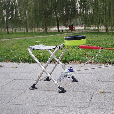 2018新款钓鱼椅不锈钢小号钓椅折叠轻便板凳马扎超轻可升降小钓椅