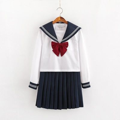 基础款jk制服套装正统原创水手服女jks白二本白三本短裙长裙