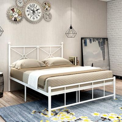 现代简约铁架床北欧ins网红铁床1.2米1.5米1.8米单人铁艺床双人床