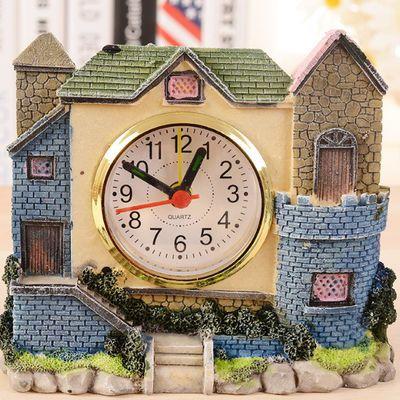 亏本【限时抢购】家居摆件城堡别墅闹钟创意闹钟儿童学宿舍闹钟