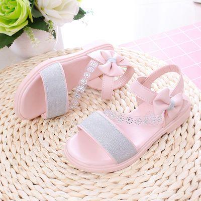 女童鞋夏季新款女童凉鞋公主鞋女孩洋气中大童学生软底儿童凉鞋女