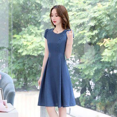 裙子女夏2020新款连衣裙时尚洋气女装高档连衣裙中长款