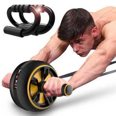 健腹轮腹肌轮男静音训练器初学者减肥健身器材家用女士减肚子滚轮