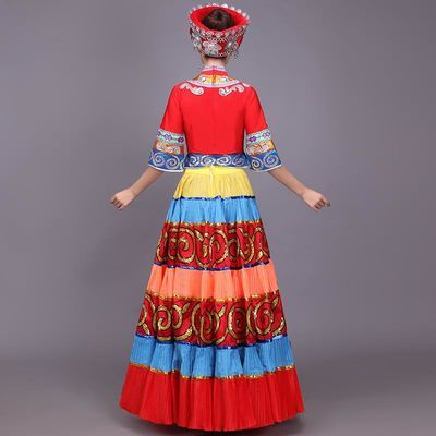 云南 怒江傈僳族迪庆普米族服装女服饰云南少数民族生活舞蹈服116