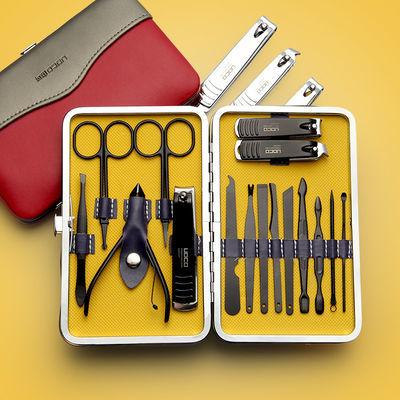 2020新品特卖精钢指甲刀套装指甲钳不锈钢美甲大号指甲剪单个套盒