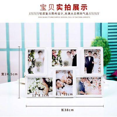 韩式5寸组合连体相框 六格摆台照片定制创意画框儿童宝宝照片相架
