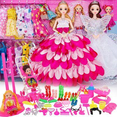 洋馨蕾芭比娃娃套装大礼盒公主女孩儿童玩具衣服布生日礼物屋可爱