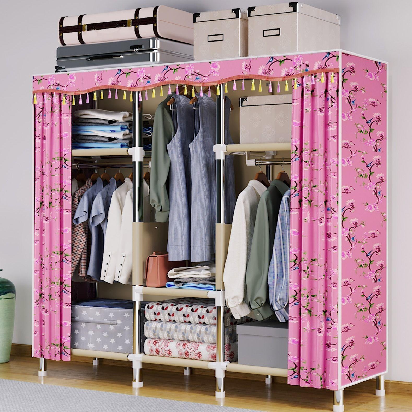 请问下,简易衣柜实木的好还是钢管的好?