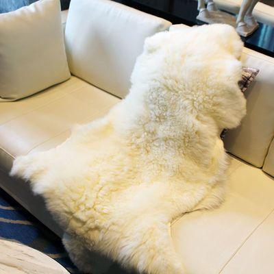 新款整张羊皮地毯客厅皮毛一体沙发垫羊皮坐垫毯子褥子飘窗垫羊毛