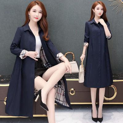 【有里布】大码风衣女中长款2020初春新款小个子大衣薄款宽松外套