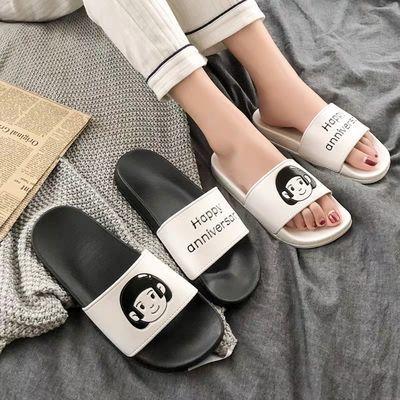 拖鞋女新款休闲时尚平跟韩版男女夏季防滑凉拖女百搭薄底鞋子学生