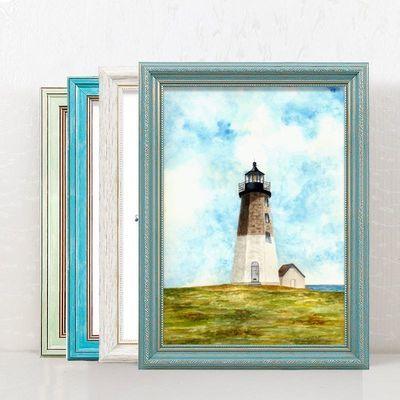 挂墙画框复古美式相框装裱证件4开8KA3162024寸创意广告框欧式