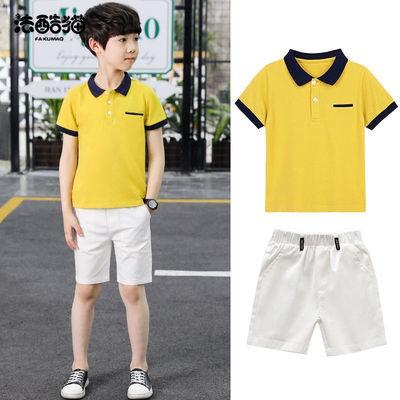 法酷貓童裝男童T恤套裝2020新款夏裝大童短袖兒童運動服韓版洋氣