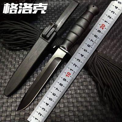 户外刀洛克高硬度直刀野外打猎随身刀防身刀水果刀防身收藏刀登上