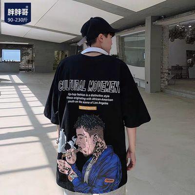 短袖t恤男夏季男士港风潮流情侣上衣宽松欧美潮牌嘻哈ins半袖衫