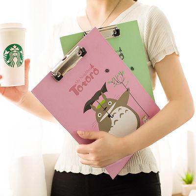 2020新品特卖龙猫板夹 学生加厚A4试卷夹活页夹可卡通可爱文件夹