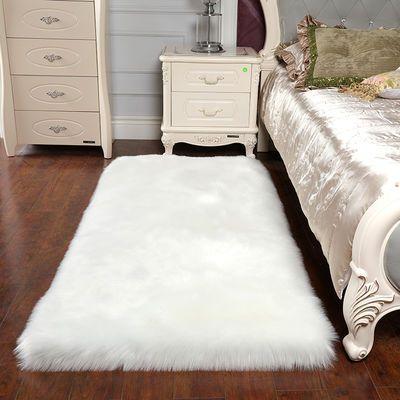 新款长毛绒地毯卧室客厅沙发飘窗毯网红同款ins风仿羊毛地垫全铺