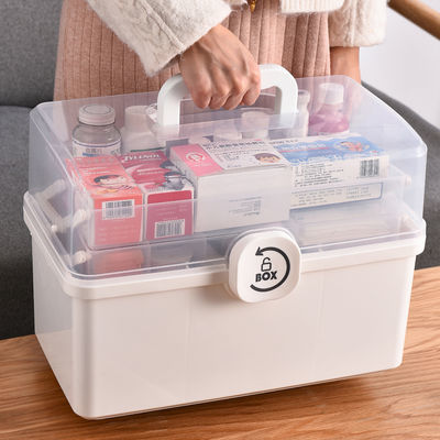 医药箱家用大号医疗箱急救箱药品收纳盒透明药盒多层大容量收纳箱