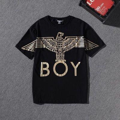 2020夏季新款BOY字母印花短袖t恤精神小伙男女同款潮快手网红同款