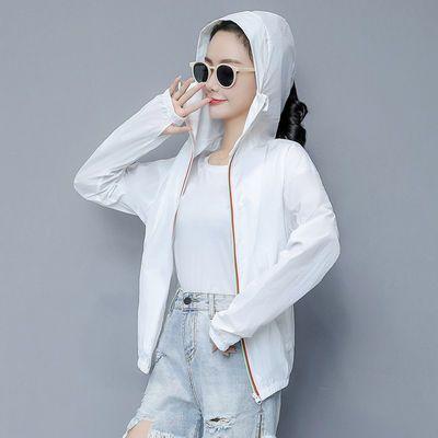 2020新款防晒衣女短款外套韩版连帽防紫外线宽松大码夏季防晒服女