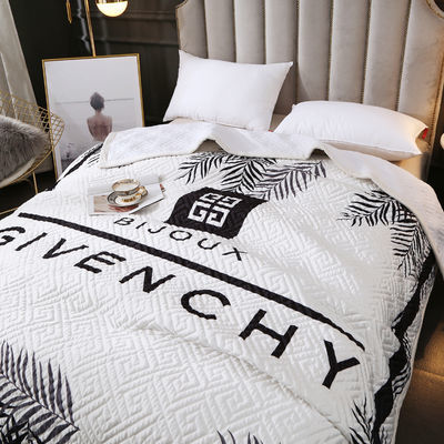 潮牌时尚水晶绒盖毯空调被双人床盖床褥学生薄被子可水洗夏凉被芯