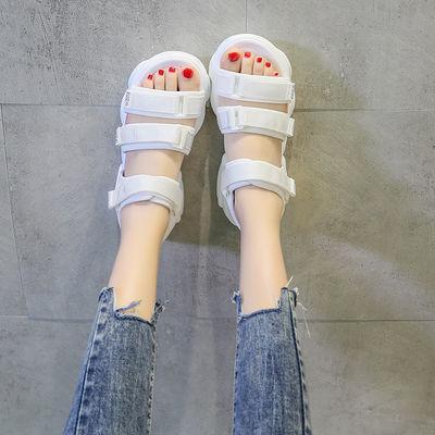 2020夏季新款女童凉鞋学生韩版初中生学生凉鞋中大童平底防滑凉鞋