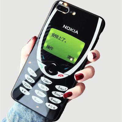 2020新品诺基亚苹果X手机壳iPhone6s/7/8玻璃7plus情侣xr/xs max