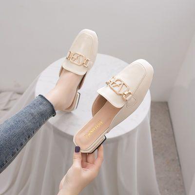 鞋子女2020夏天新款外穿包头拖鞋时尚百搭英伦风ins潮网红凉半拖