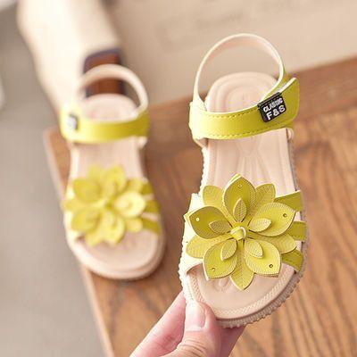 女童凉鞋2020夏季新款韩版太阳花公主鞋中大童百搭宝宝软底沙滩鞋
