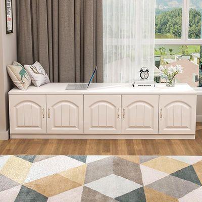飘窗柜矮柜地柜可坐落地窗台柜收纳柜子自由组合定制储物柜阳台柜