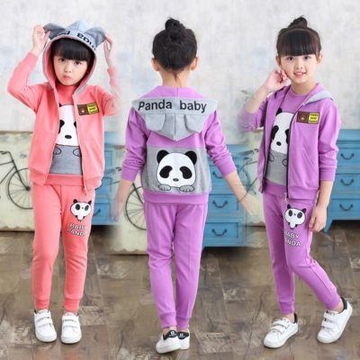 女童网红套装洋气春秋装儿童2020新款中大童11休闲运动女孩三件套